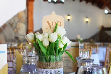 wedding decoration with tulips