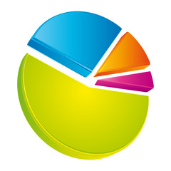 Colorful chart pie