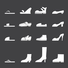 vector.shoes icon set