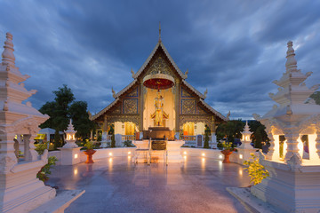 Place a beloved old Buddhist Lanna.Wat Phra-singha temple great