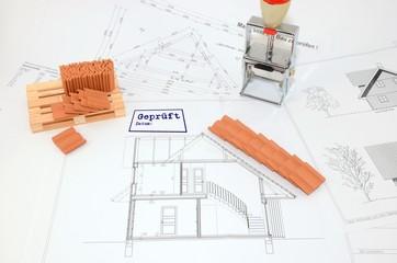 Bauzeichnung geprüft