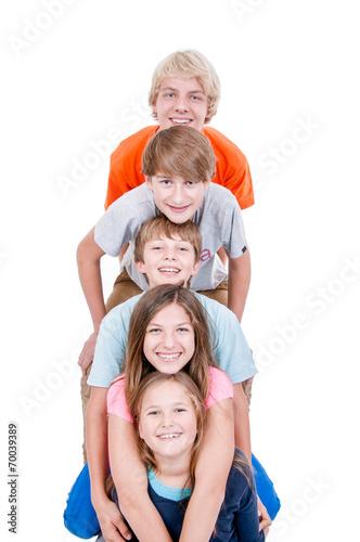 Teenager gestapelt - 70039389