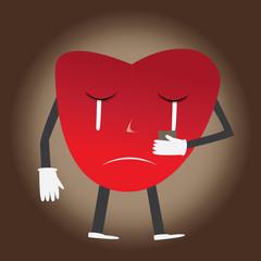 Heart sad