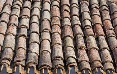 old roof tiles, south Italy