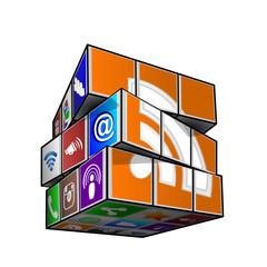 social media cube feed