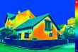 Leinwanddruck Bild - Thermovision image on House