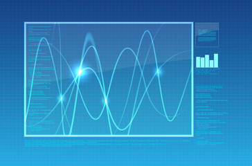 Abstract computer or oscilloscope background