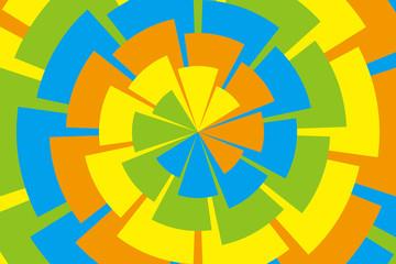 背景素材壁紙(虹色の螺旋状の花びら)