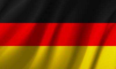 Wavy German flag - vector illustration