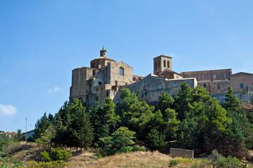 Irsina, the castle. Basilicata, Italy