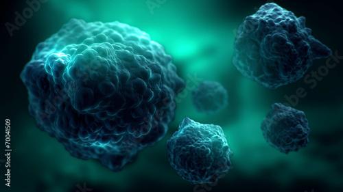 Leinwanddruck Bild bacteria electron microscope image illustration