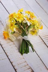 Bunch of fresh  daffodils