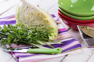 Ingredients for coleslaw