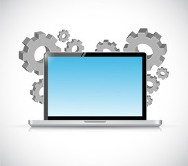 technology industry illustration design