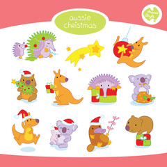 Australian Animals Christmas Set