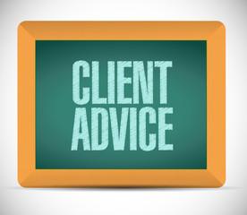client advice message board illustration design