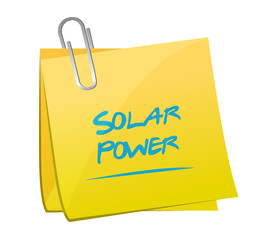 solar power memo post illustration design