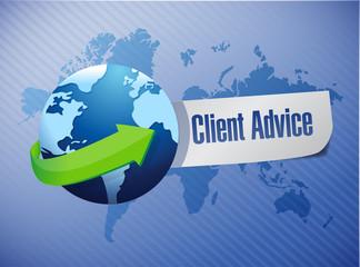 globe client advice sign illustration design