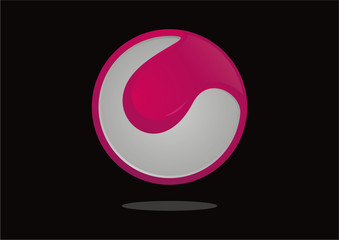 Globe sphere abstract icon vector logo design template