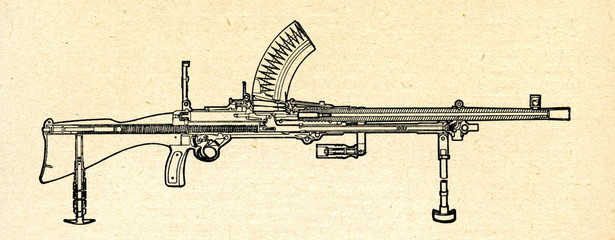 Light machine gun ca. 1930