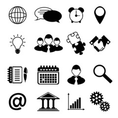 Business Icons Black