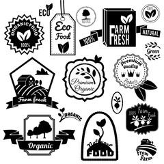 Eco labels black