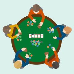 Poker game people