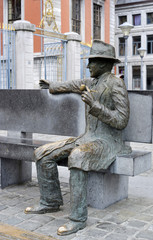 George Simenon Skulpture Lüttich