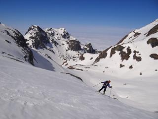 Descente à ski - Belledonne (Alpes)