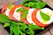 Leinwandbild Motiv Traditional Italian Caprese salad