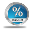 Discount Button mit Prozent Symbol