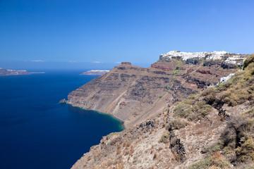 Imerovigli on the cliff of the caldera, Santorini island, Greece