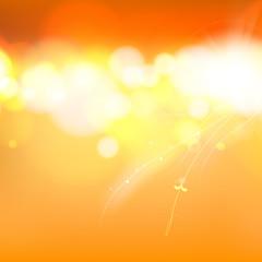 Orange abstract bokeh.