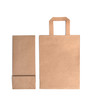 Blank brown paper bags isolated on white background