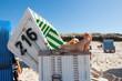 canvas print picture - Entspannen im Strandkorb