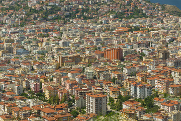 Residential buildings. Urbanization. Background. Alanya. Turkey.