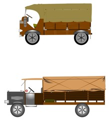 vintage trucks with canvas tops