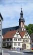 canvas print picture - Kirche in Fechenbach