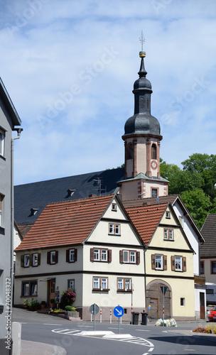 canvas print picture Kirche in Fechenbach
