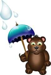 Bear with umbrella