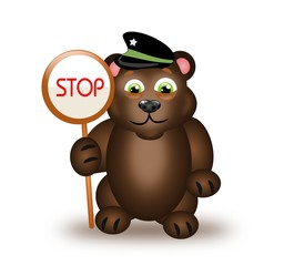 Bear with stop