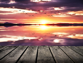 refljeos naturales en el lago