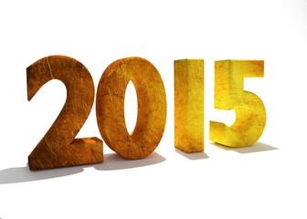 nuovo anno 2015 3d oro
