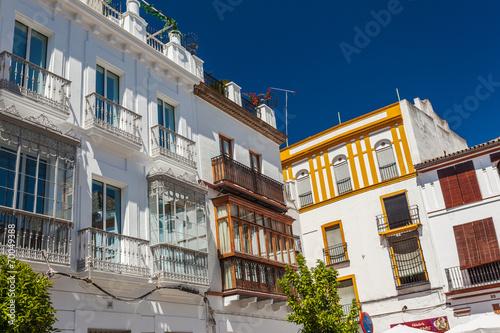 canvas print picture Sevilla, Stadthäuser