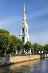 bell tower of Nikolsky Cathedral, St. Petersburg, Russia
