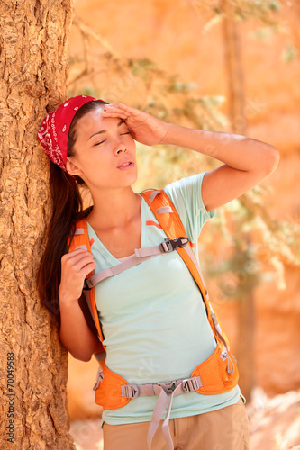Dehydration thirst heat stroke exhaustion concept - 70049583