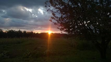 Sonnenuntergang in Unharn