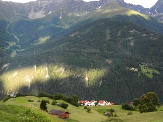 Austrian landscape in South Tyrol