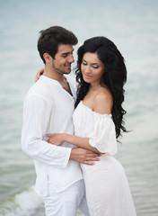Romantic couple portrait
