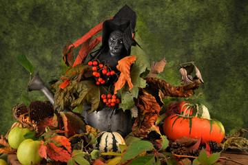 zucche d'autunno per halloween